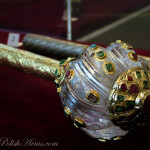 Bulawa-mace with crystal head, after hetman Józef Potocki, Ottoman empire, 2nd half of the 16th c. This was donated later by the hetman to the Jasnagora monastery