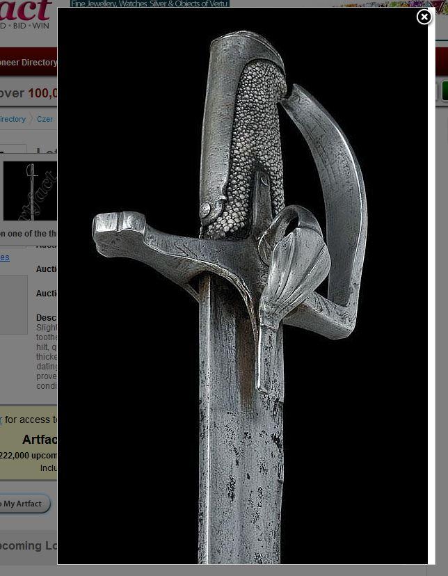 Polish hussars sabre